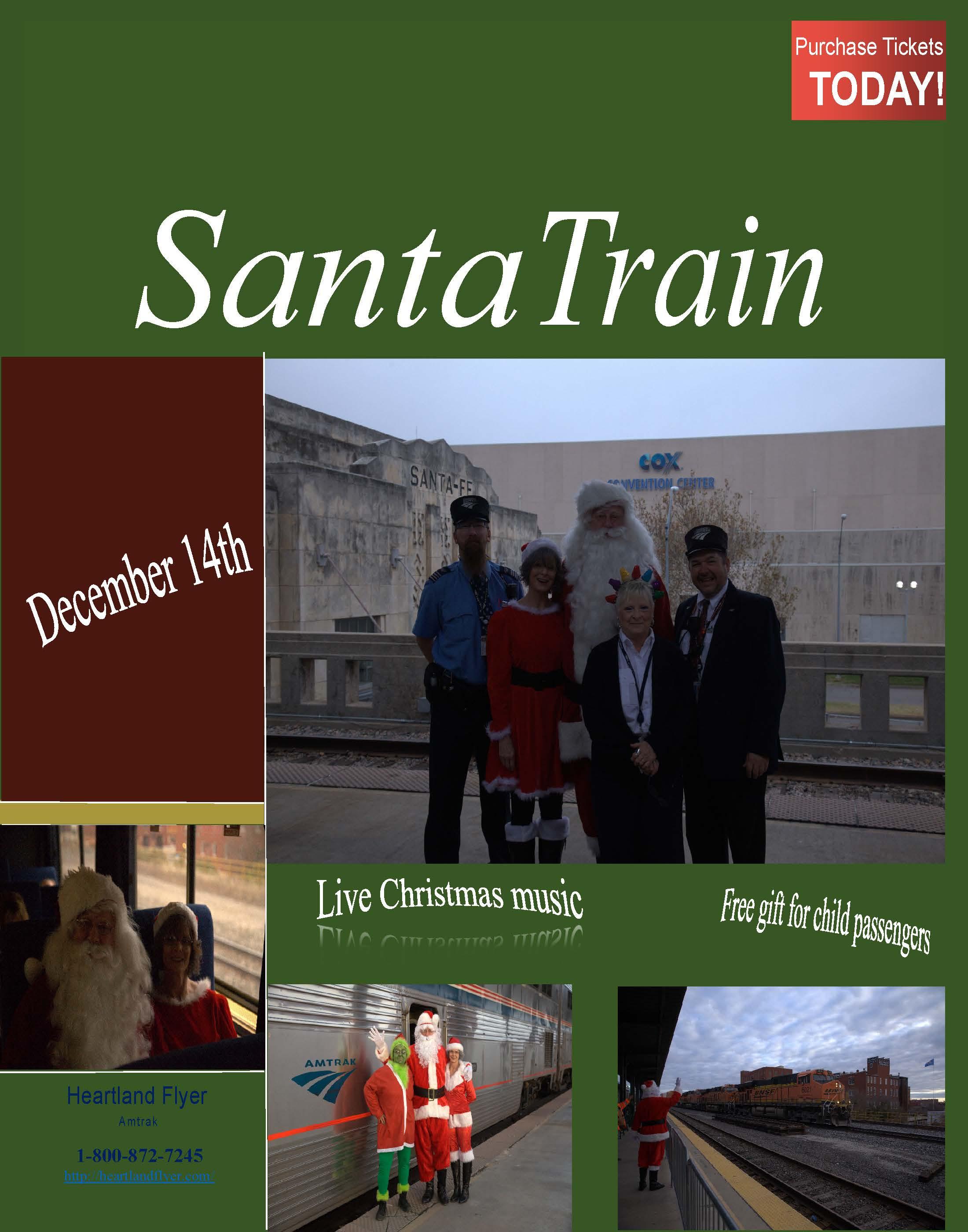 Santa Train poster 2019